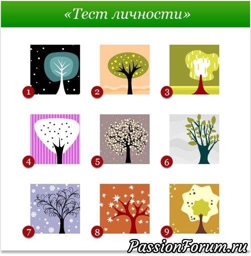 Выберешь деревце - узнаешь характер!)))