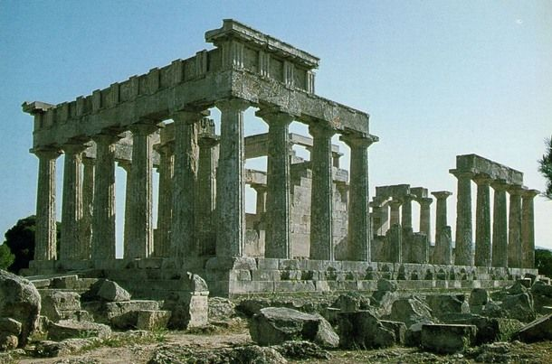 Doric Temple of Aphaia. Aegina, Greece. 490 B.C.