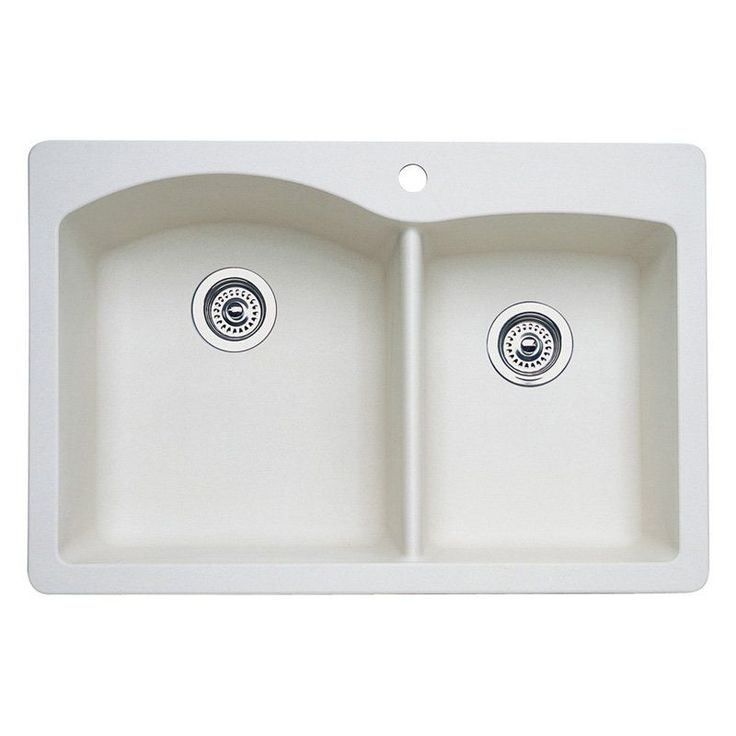 Blanco Diamond Silgranit II Double Basin Drop In Kitchen Sink -