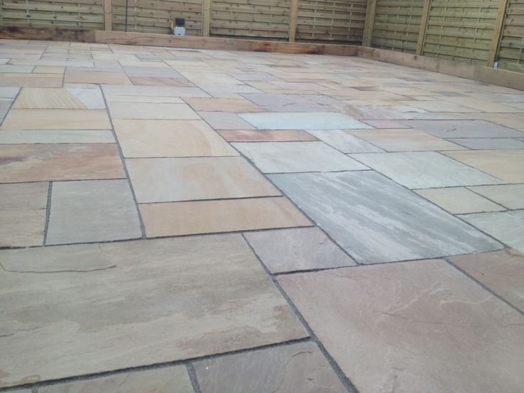 Natural Indian Stone Paving Installation by Abel Landscaping