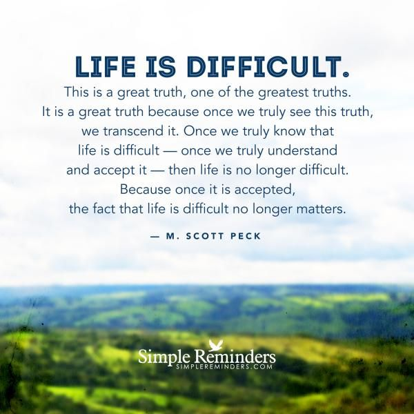 M. Scott Peck | Life is difficult by M. Scott Peck