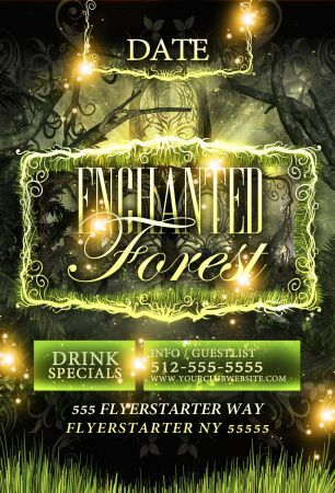 Enchanted Forest Flyer Template Flyer Design Templates