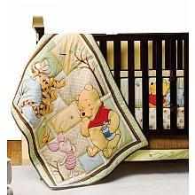 HEATHER NELSON::::::::Winnie The Pooh Day with Friends 4-Piece Crib Bedding Set