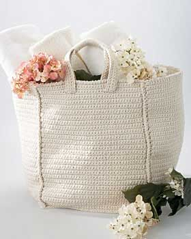 Cottage grocery bag crochet pattern