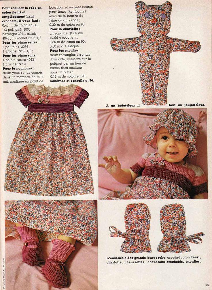layette b b tricot crochet et couture facile vintage. Black Bedroom Furniture Sets. Home Design Ideas