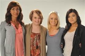 Teen Mom cast Farrah Abraham, Catelynn Lowell, Maci Bookout, and Amber Portwood. #TeenMom