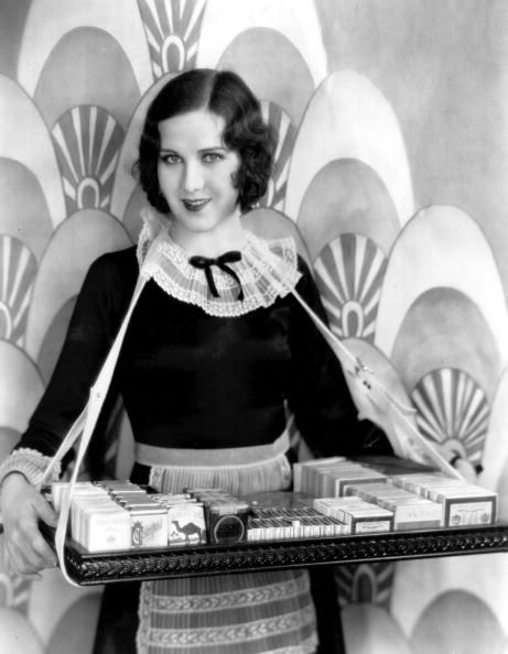 Mary Brian the Hollywood actress in costume as a cigarette girl. circa 1928: