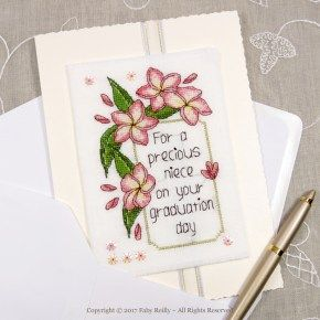 Frangipani Card - Faby Reilly Designs