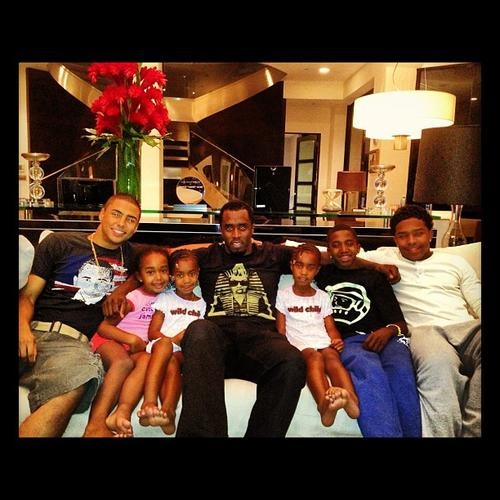 P. Diddy, Chilling out family style.