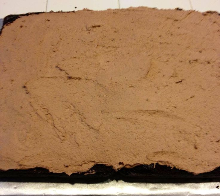 Faux Chocolate Mousse Cake Filling