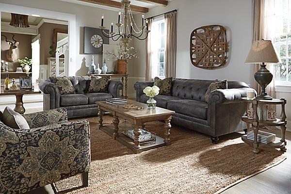 The Hartigan Loveseat from Ashley Furniture HomeStore (AFHS - ashleys furniture living room sets