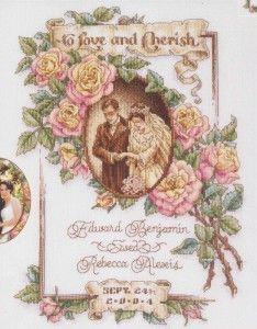 Свадебная вышивка крестом