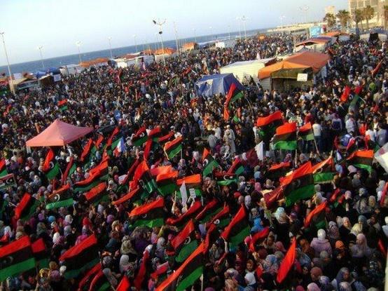 raise the libyan flag