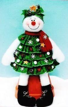 Олень и снеговик своими руками: выкройки прекрасных сувениров