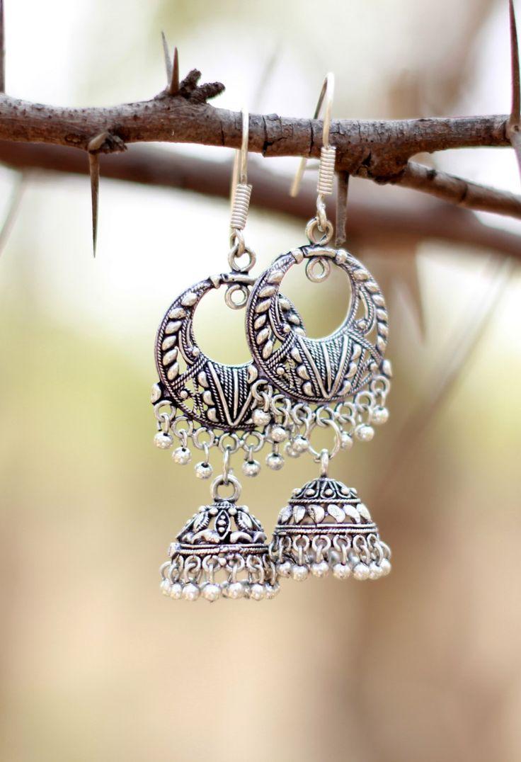 silver earrings silver hoop earrings long by DesipotliJewels, $12.90