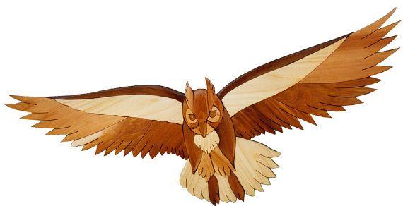 Intarsia Woodworking Pattern - OWL