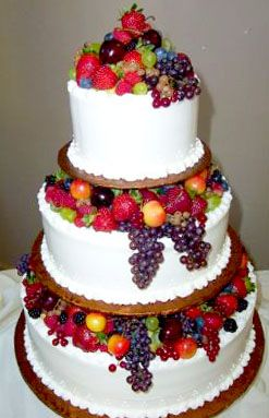 Beautiful Fruit Cake Images : 67 best images about CAKES: Fruits:Multi-tier on Pinterest ...