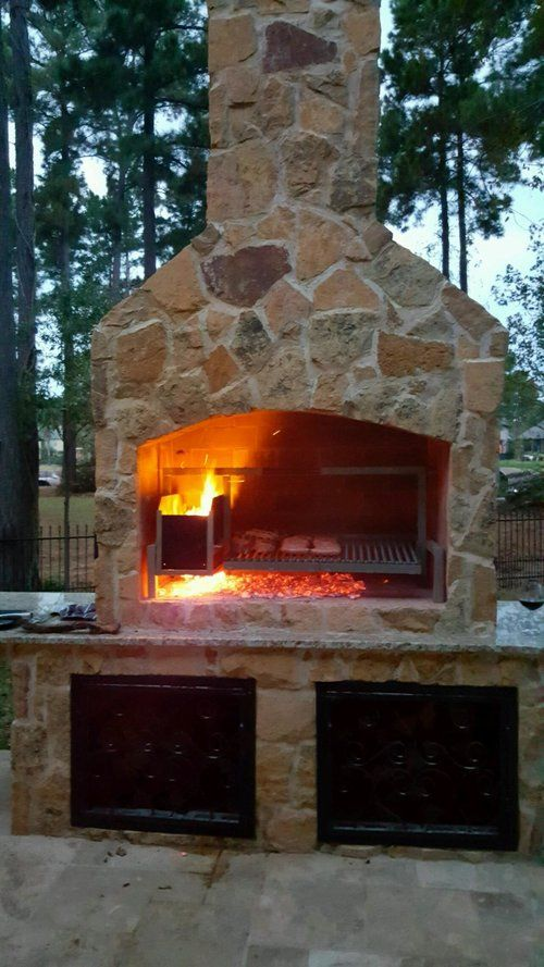 Carlos Val Grill Jpg Outdoor Cooking Fireplace Brick Bbq