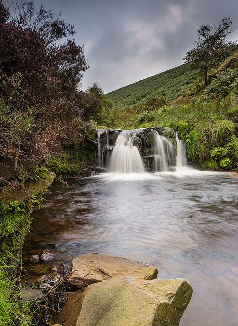 Fairbrook waterfall.Peak District - Derbyshire - England