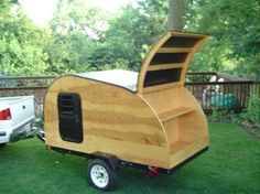 Teardrop Camper Plans - Build A Teardrop with convertable top!                                                                                                                                                                                 More