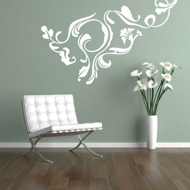 Naklejka - Wzór roślinny | Decorative sticker - Vegetal pattern | 23,99 PLN #wall_decal #sticker #vegetal #pattern #home_decor #interior_decor