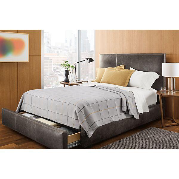 Wyatt Storage Bed in Leather - Modern Bedroom Furniture - Room & Board