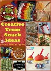 Baseball, softball and t-ball season just began locally and it got me thinking about post-game snacks. If you want to think outside the box, quite literally, you could try to make your own snack! Check out the 12 creative team snack ideas we shared!