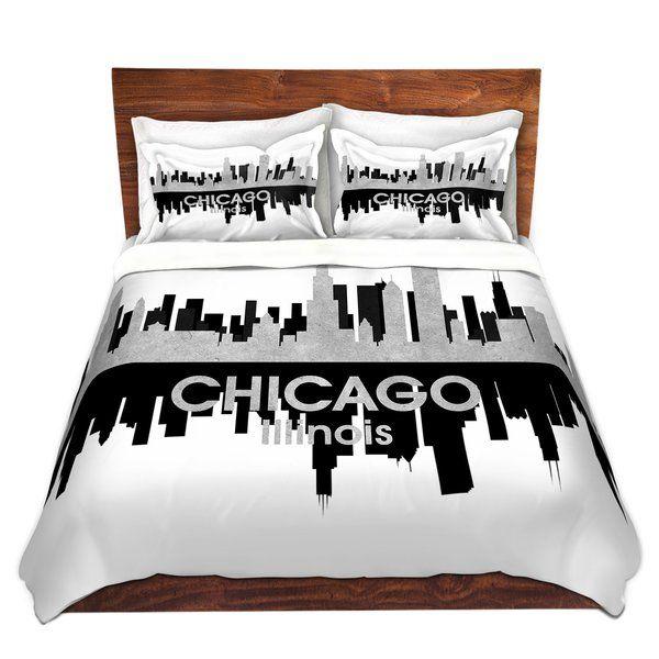 City Iv Chicago Illinois Duvet Cover Set Duvet Cover Sets Duvet Duvet Sets