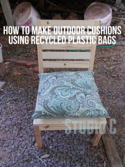 A cheap and easy way to make outdoor cushions...