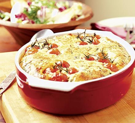 Create a comforting veggie dish from your storecupboard staples with this easy cheesy bake