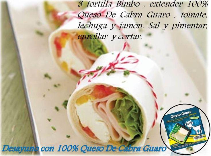 Desayuno con Tortillas Bimbo y 100% Queso De Cabra Guaro