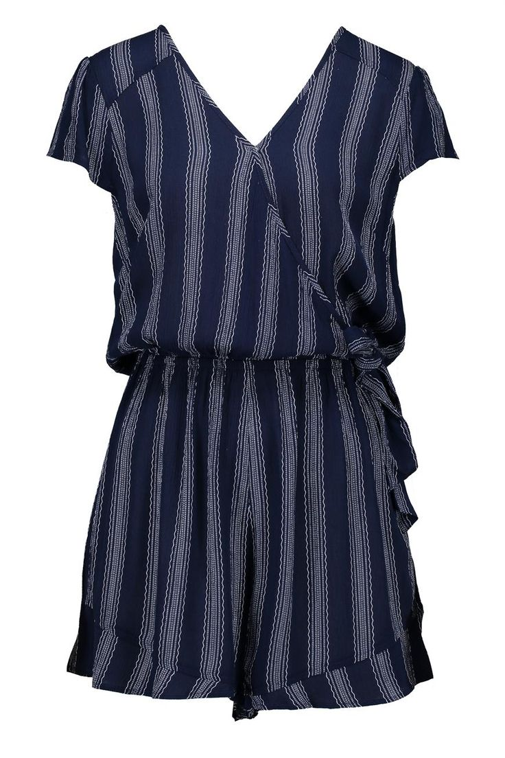 SHORT SLEEVE TIE FRONT PLAYSUIT