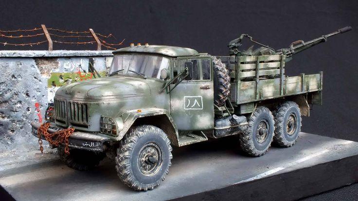 Dodge Power Wagon For Sale >> ZiL-131 | Witold Socha. | Modélisme - Terrestre | Pinterest