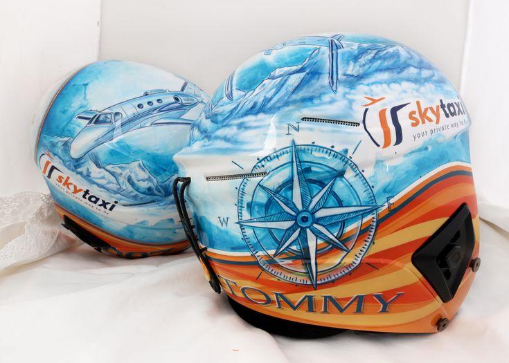 Sky Taxi - your private way to fly. *** Skihelmgestaltung - ski helmet design