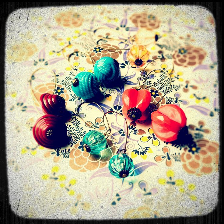 Large range of reclaimed bauble earrings - now available at Urban Euphoria