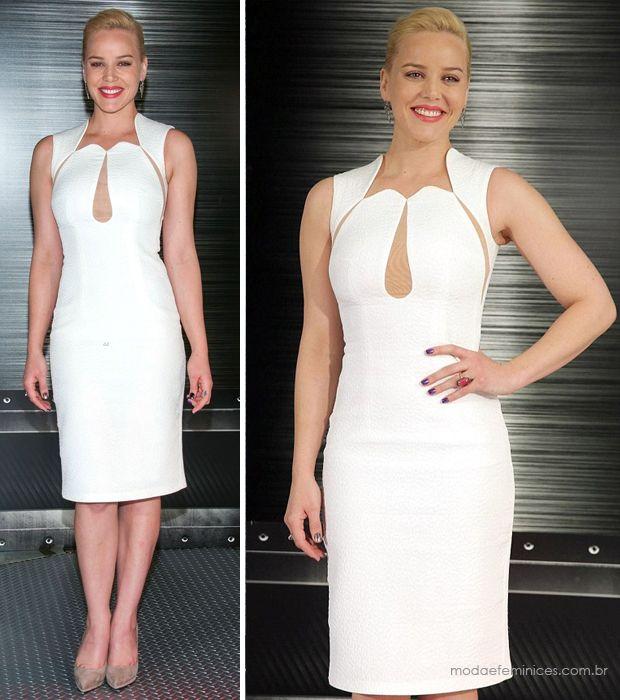 Look do dia: Vestido tubinho branco   http://modaefeminices.com.br/2014/01/25/look-do-dia-vestido-tubinho-branco/