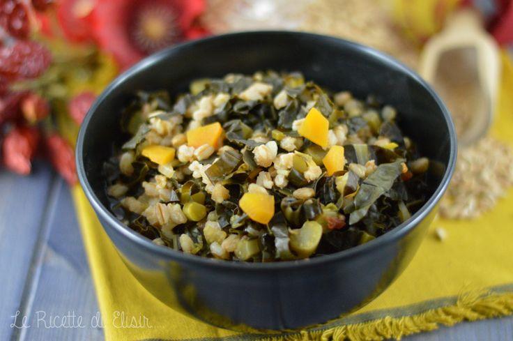 Zuppa di farro con cavolo nero e zucca http://blog.giallozafferano.it/ricettedielisir/zuppa-di-farro-con-cavolo-nero-e-zucca/