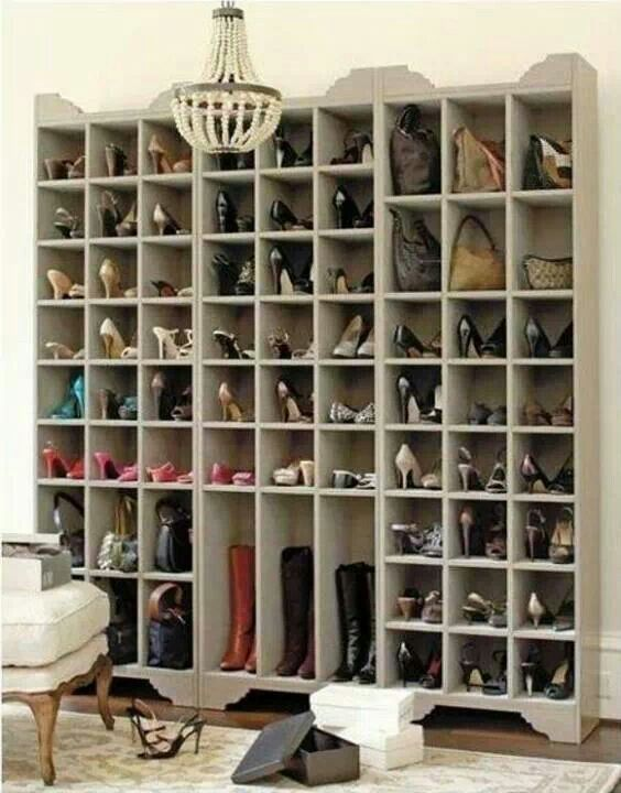 DIY shoes storage