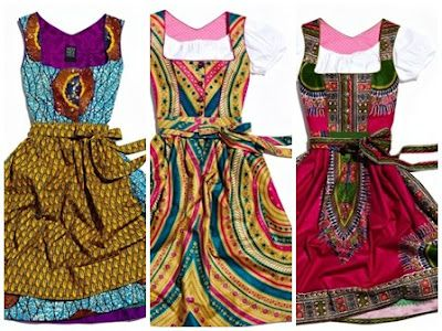 African Prints in Fashion: NOH NEE: Bavarian Dirndl & African Prints
