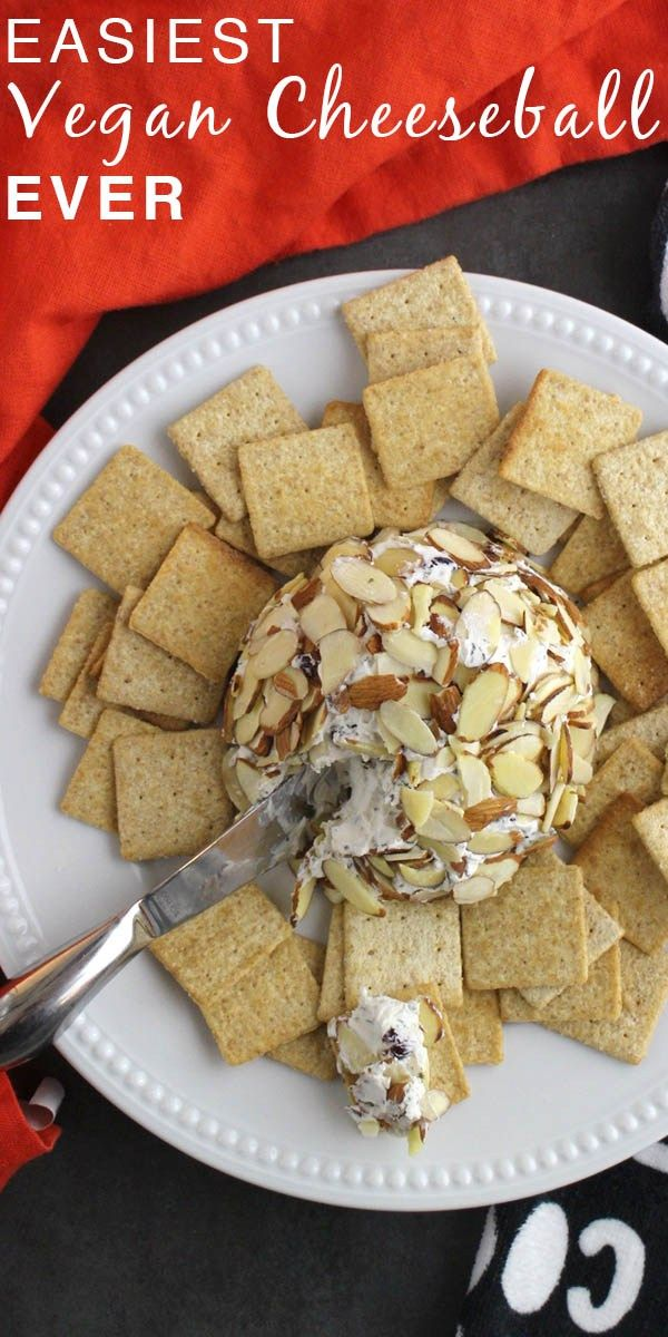 Who says party food has to take more than 10 minutes to make? Not this amazingly easy Vegan Cheeseball!