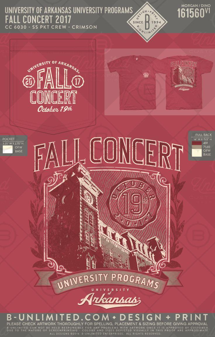 University Programs Fall Concert 2017 #BUonYOU #greek #greektshirts #greekshirts #universityofarkansas #fallconcert #gohogs