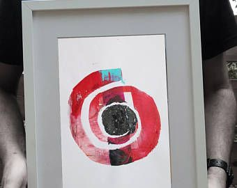 Spiral Shape Collage * One-of-A-Kind snail Composition  * This is an Original Acrylic Painting