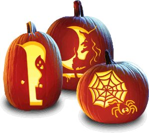 Pumpkin Carving Patterns   Happy Halloween, hope you don't mind I borrowed your cute pumpkins! :-)