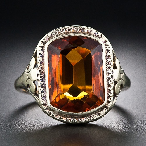 Antique Citrine Filigree Ring -not usually a fan of orange but this is gorgeous!