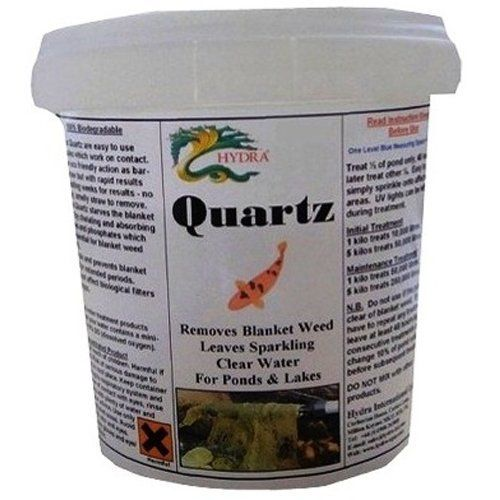 Control Weed Growth in your Koi Fish Pond by Hydra Quartz-32 oz by HYDRA. $32.95. Hydra Quartz starves the blanket weed by chelating and absorbing nitrates and phosphates which are essential for blanket weed growth; its bacteria and enzymes control and prevent blanket weed for extended periods.. Biological Treatment that rapidly removes blanket weed, string algae and slime. Ideal for Koi and fish ponds, lakes, water traps, natural pools and irrigation systems.. Harmles...