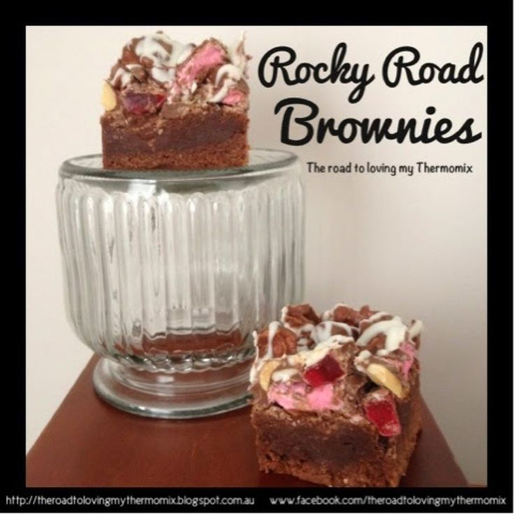 Well last night I asked which of my three recipes you wanted to see - chewy butterscotch bars, rocky road brownies or licorice brownies. This was the winner! Don't worry, the rest will be posted over the next few days (You should see how many recipes I have ready to post! So many