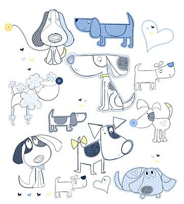 All about surface pattern ,textiles and graphics - multiple dogs