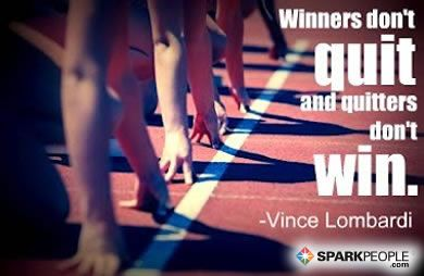 Winners don't quit and quitters don't win. Classic and true! | via @SparkPeople #inspiration #motivation #fitness