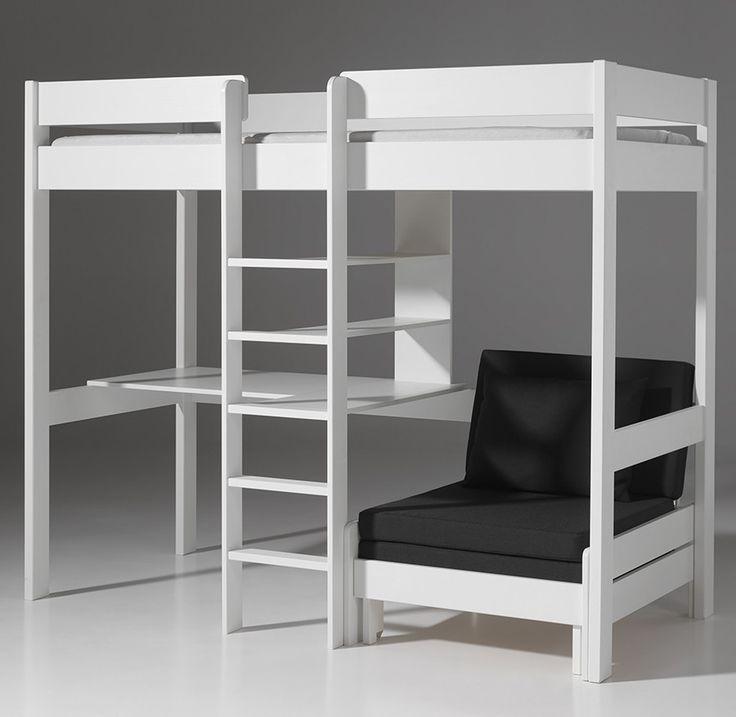 Les 25 meilleures id es de la cat gorie chambres loft - Lit mezzanine enfant avec bureau ...