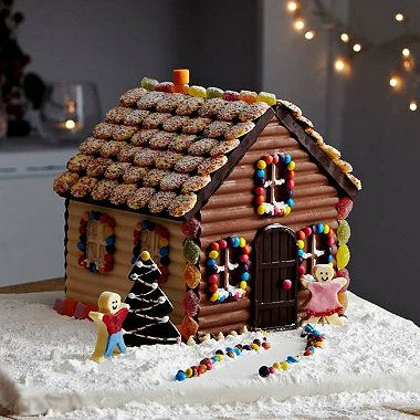 Too good to eat! Gingerbread house made from Lakeland's Fairy Tale Cottage Mould #christmas ( I REALLY WANT ONE OF THESE! )